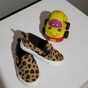 Leopard slide on shoe (Little girl)